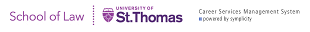 University of St. Thomas School of Law Office of Career & Professional Development